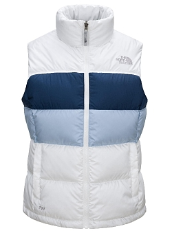 The North Face Women's Striped Nuptse Vest