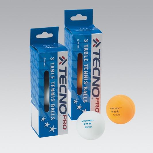 Tecno Pro Tischtennisbälle 3-Stern